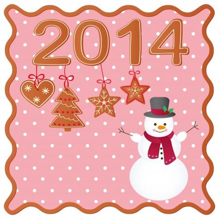 christmas cookies: Merry Christmas greeting card design. Christmas cookies