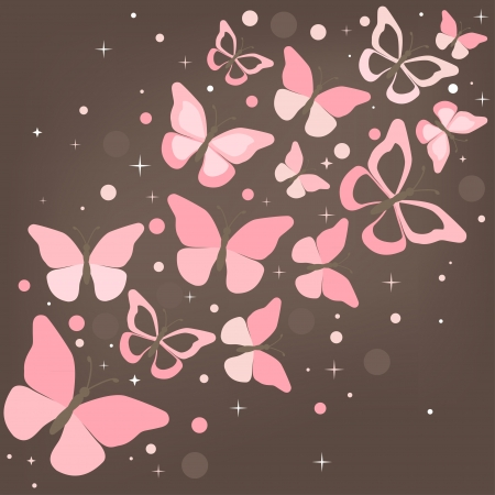 Background with Butterfly for you. Vector illustration