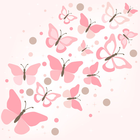 Background with Butterfly for you. Vector illustration Vector