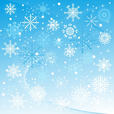 A winter background with snowflakes falling. vector Illustration