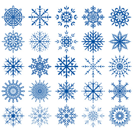 snowflake icon set - Illustration . Vector