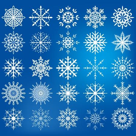 snowflake icon set - Illustration .