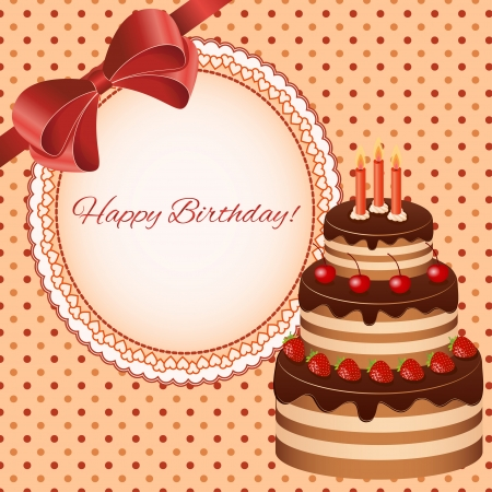 Birthday greeting card design - vector Vector