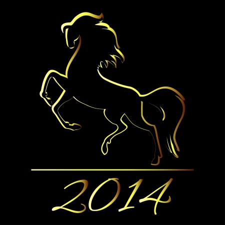 New Year symbol of horse - Illustration Stock Vector - 22378611