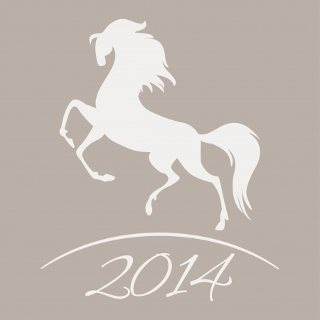 New Year symbol of horse - Illustration Vector