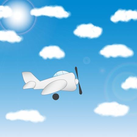 The plane - vector illustration Vector