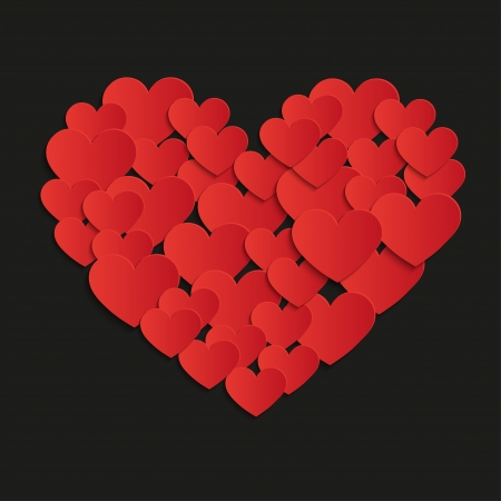 painting heart - Illustration, vector  Illustration