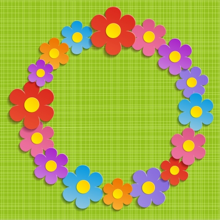 Colorful Floral Background - Illustration, Vector  Vector