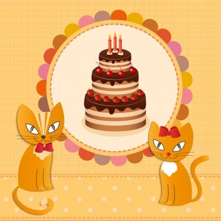 Cat cake - Illustration