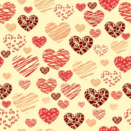 Seamless heart background - Illustration