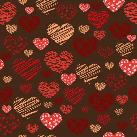 Seamless heart background - Illustration