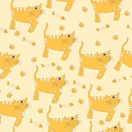 Cats seamless pattern - Illustration  Vector