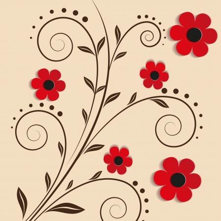 Vector floral background - Illustration