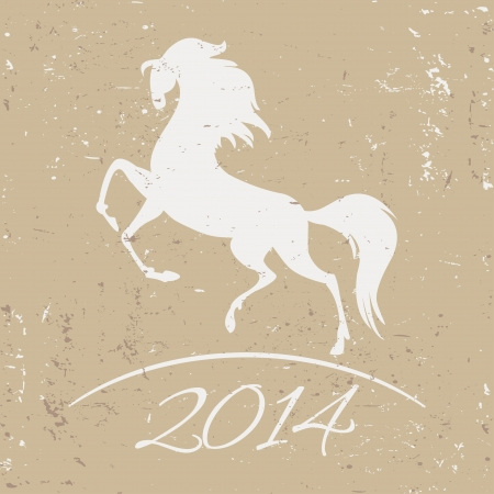 New Year symbol of horse - vector illustration Stock Vector - 22787593