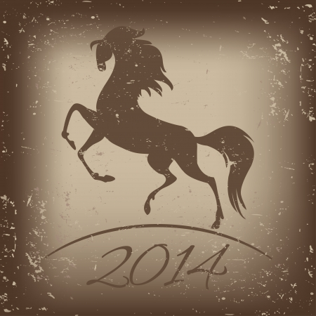 New Year symbol of horse - vector illustration Stock Vector - 22787595