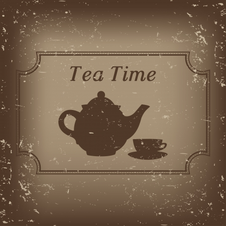 tea time - vector illustration  Stock Vector - 22787685