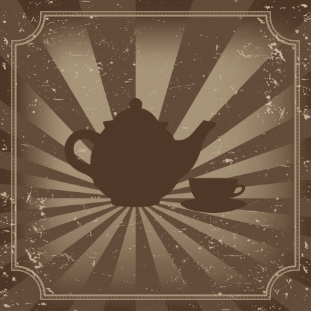 tea time - vector illustration  Vector