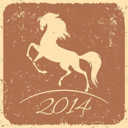 New Year symbol of horse - vector illustration Stock Vector - 22964226