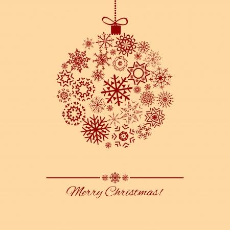 Christmas ball - vector, illustration