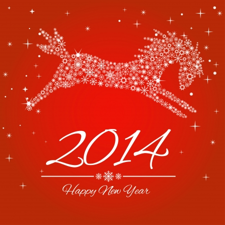 New Year symbol of horse  Illustration