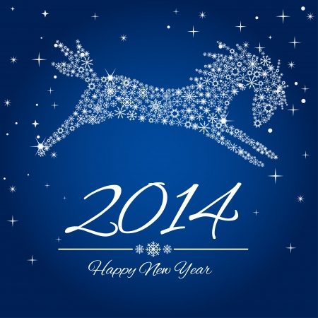 New Year symbol of horse - Illustration