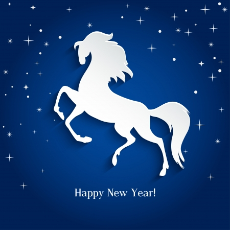 New Year symbol of horse - Illustration, vector Stock Vector - 23250644