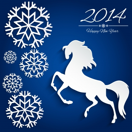 New Year symbol of horse - Illustration, vector  Stock Vector - 23552012