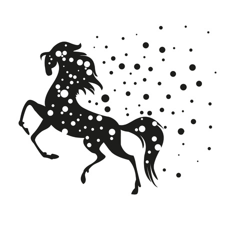 abstract black horse - vector illustration Vector