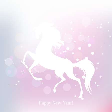 New Year symbol of horse - Illustration, vector Stock Vector - 23552122