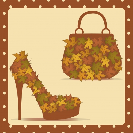 Beautiful female shoes and bags - Illustration