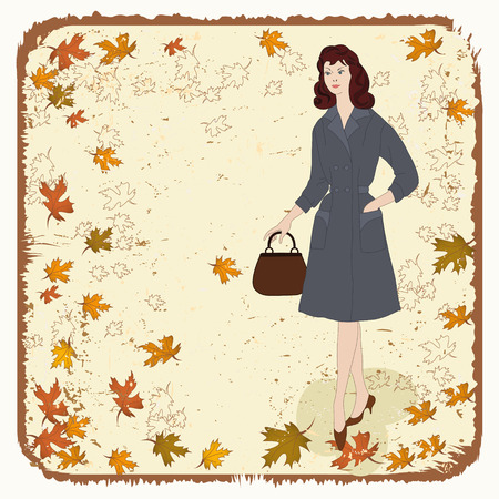 Autumn lady - Illustration