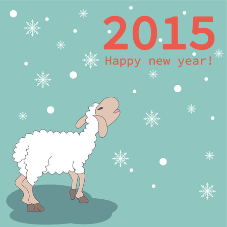 New year 2015 greeting card design - Illustration Illustration