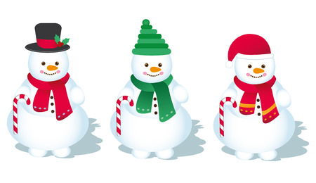 red nosed: Vector, Snowman - Illustration
