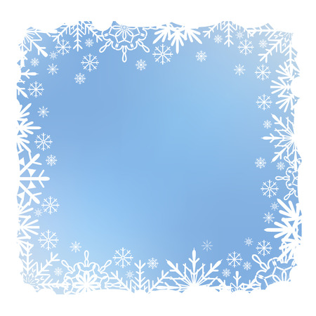 Blue Christmas snow background with snow stripes.