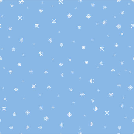 Snowflakes seamless pattern, snow background. Vector