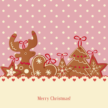 Vector Illustration of a Decorative Christmas Background