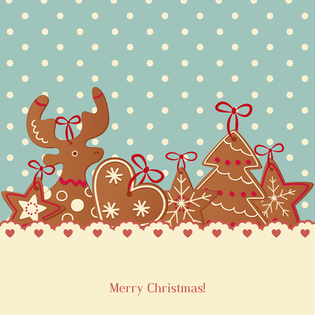 anise: Vector Illustration of a Decorative Christmas Background