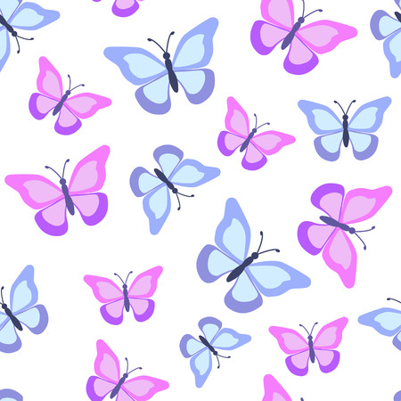 Seamless pattern with butterflies. Vector illustration. Illustration