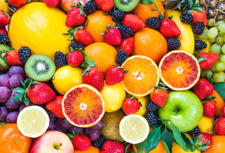 Fresh fruits.Fruit background. Banco de Imagens