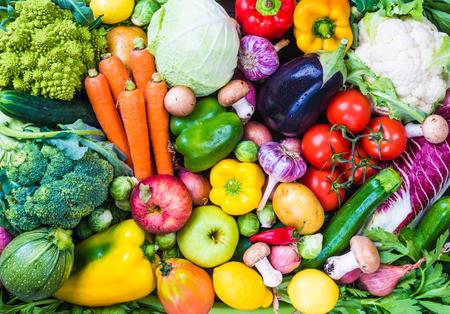 Vegetables and fruits background. Stok Fotoğraf