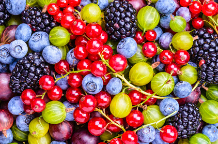 Background.Antioxidants Beeren, Entgiftung, gesunde Ernährung. Standard-Bild