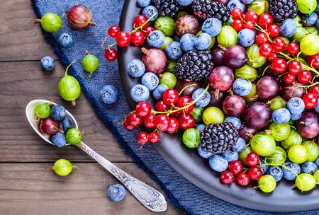 fruit plate: Berries.Antioxidants, healthy, diet detox, organic fruits.
