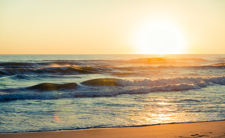 toned: Sunset beach, toned image