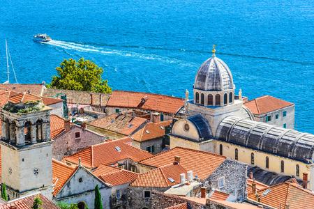 dalmatia: Panoramic view of Split, Dalmatia, Croatia. Stock Photo