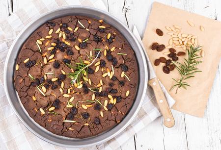 Italian typical chestnut cake, chestnut cake.