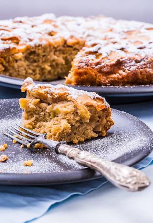 Pumpkin baked desserts, rustic pie, bread. Stok Fotoğraf