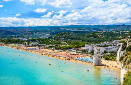 Vieste panoramic view, Gargano, Apulia, south Italy Stok Fotoğraf