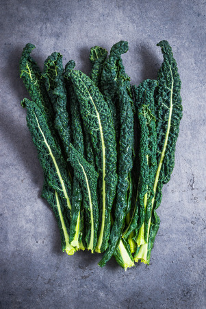 Kale cabbage leaves directly.