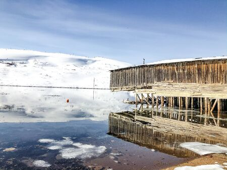 abandoned objects in a village beyond the Arctic circle