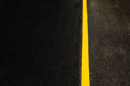 yellow line: the road with single yellow line in right Stock Photo